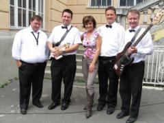 A.N.T. zenekar és Szandi a Dáridó flevételezés szünetében